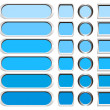 Stock Photo: Metallic buttons in shades of blue