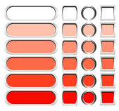 Metallic buttons in shades of red — Stock Photo