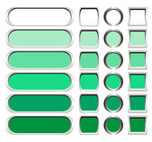 Metallic buttons in shades of green — Stock Photo