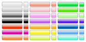 Set of colorful 3d glass buttons — Stock Photo