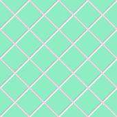 Diagonal green square ceramic tiles texture — Stock Photo