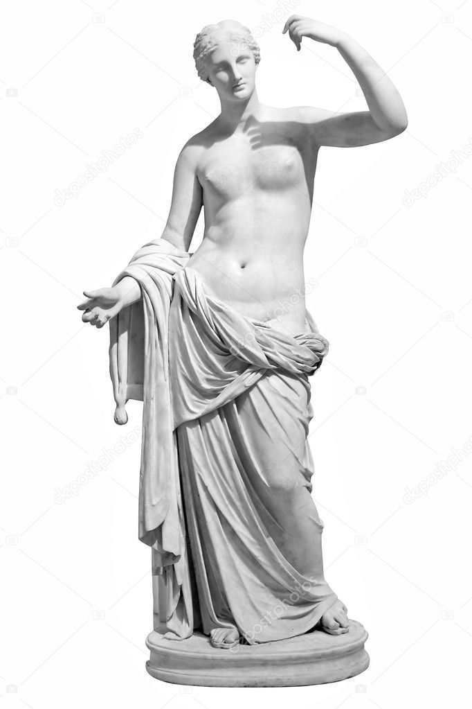Ancient marble statue of Venus isolated on white  Stock Photo #2345531