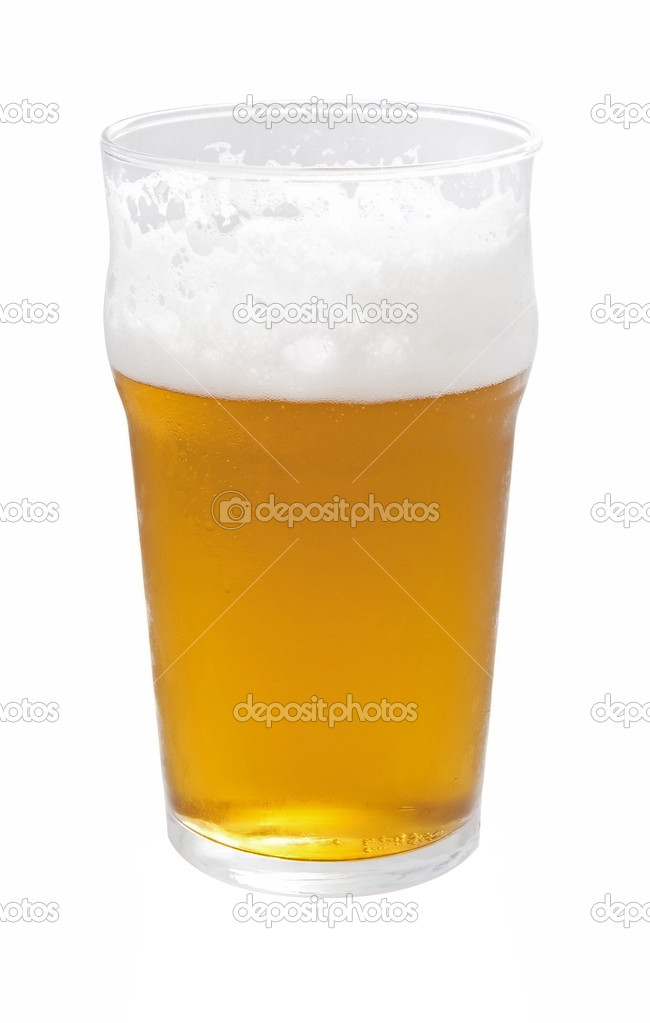 A pint of beer isolated on white — Stock Photo #2351278