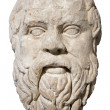 Head of the greek philosopher Socrates — Stock Photo