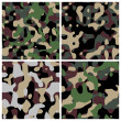 Different military camouflage textures - Stock Photo