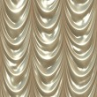 Seamless white drape texture - Stock Photo