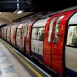 Stock Photo: A train in the London Underground
