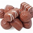Chocolate candy on white — Stock Photo