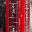 A typical London red phone — Stock Photo