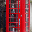 Stock Photo: A typical London red phone