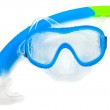 Swimming mask and snorkel on white — Stock Photo #2367318