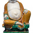 Ancient chinese laughing buddha statue - Stock Photo