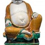 Древние китайские смеясь статуя Будды — Стоковое фото