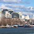 Charing Cross Station and Thames — Stock Photo
