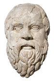 Head of the greek philosopher Socrates — Stock Photo