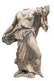 Ancient greek marble statue of a woman — Stock Photo