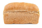 Bread loaf on a white background — Stock Photo