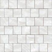 Shiny seamless white tiles texture — Stock Photo
