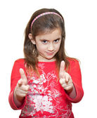 Petite fille faisant le signe ok — Photo