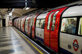 A train in the London Underground — Stok fotoğraf