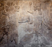 Old assyrian relief — Stock Photo