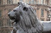 Metal sculpture in Trafalgar Square — Stock Photo