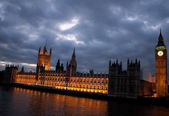 The Big Ben and the Houses of Parliament — Stock Photo