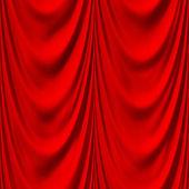 Seamless red drape texture — Stock Photo