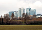 Canary Wharf buildings in London — Stock Photo