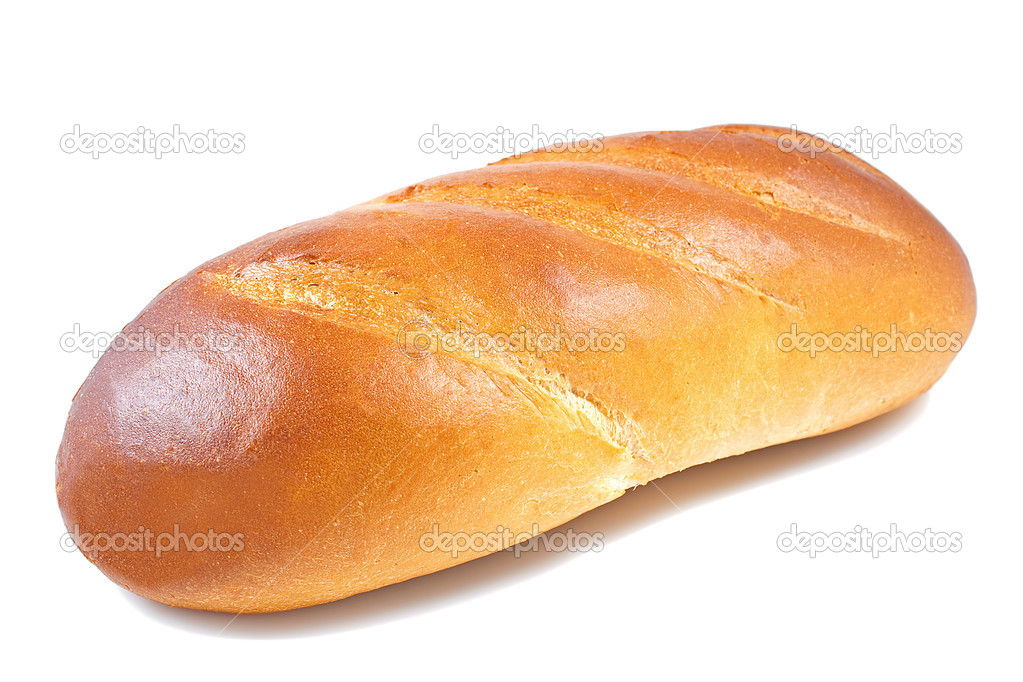 Bread Baguette In A White Background Stock Photo