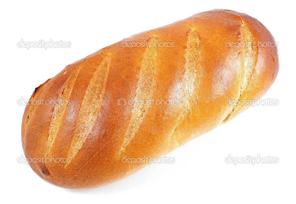 Golden bread baguette in a white background — Stock Photo #2362900