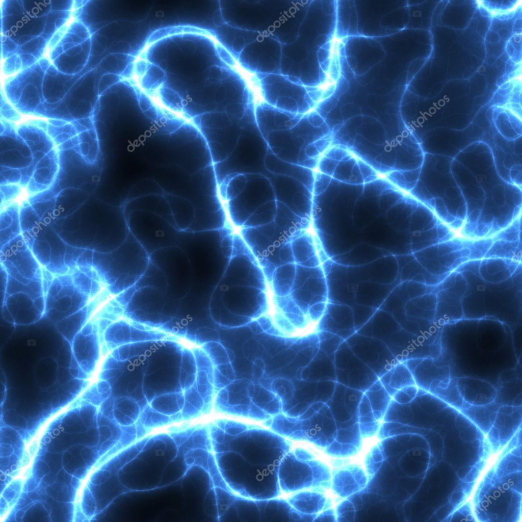 Electricity of fire texture in blue shades on a black background  Stock Photo #2364821