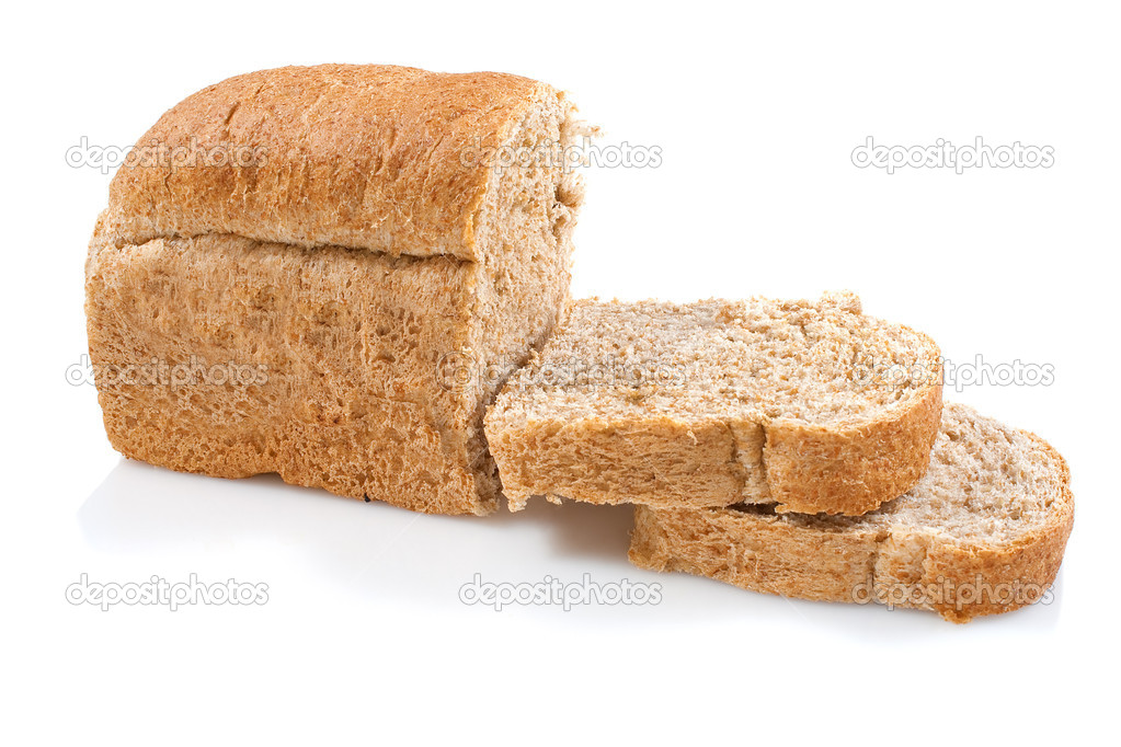 White Bread Loaf Healthy Whole Grain Bread Loaf on a White Background Photo by Kmiragaya