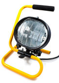 Halogen work light on white — Stock Photo
