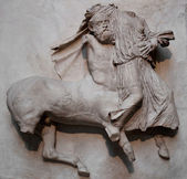 Sculpture from the Parthenon in Greece — Stock Photo