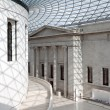 The Great Court of the British Museum - Stock Photo