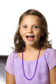 Beautiful six year old Caucasian girl — Stock Photo