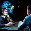 Two gamblers with cards — Stock Photo #2354351