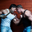 Royalty-Free Stock Photo: Two muscular angry guys