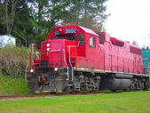 Red Locomotive — Foto Stock