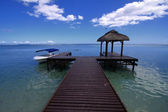 Mauritius blue sea and sky — Stock Photo