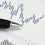 analisando o mercado de ações — Foto Stock