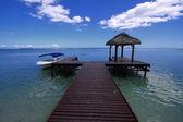 Mauritius blue sea and sky — Stock Photo