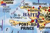 Haiti on a map — Stock Photo