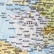 France on a map — Stock Photo