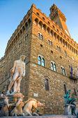 Florence, Palazzo Vecchio, piazza della — Stock Photo