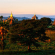Royalty-Free Stock Photo: Bagan at Sunset, Myanmar.