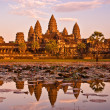 Stock Photo: Angkor Wat at sunset, cambodia.