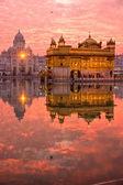 Golden Temple at sunset, Amritsar, Punjab, Indi — Stock Photo