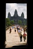 Main entrance of Angkor wat, cambodia. — Stock Photo